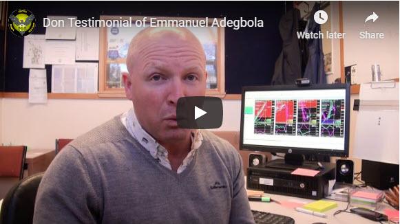 Don's Testimonial of Emmanuel Adegbola